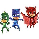Toyland®-pakket van 3 PJ-maskerfolieballonnen - Owlette, Ghekko & CatBoy - PJ-maskergeschenken