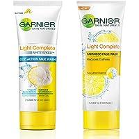 Garnier Skin Naturals Light Complete Duo Action Facewash, 100g And Garnier Skin Naturals Light Complete Facewash, 100g