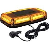 Justech 6-COB LED 60W Car Warning Light 7 Flash Modes Waterproof Amber Beacon Emergency Light Recovery Strobe Light 12V…