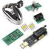 SOIC8 SOP8 Flash Chip IC CH341A USB Programador EEPROM Flash BIOS Chip USB Programador (SB Programador + SOP8 Clip + Adaptado