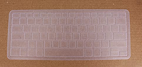 Saco Keyboard Protector Silicone Skin Cover for Dell XPS 15 9560 Laptop - Transparent