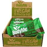 BodyMe Barrette Proteiche Vegan Bio   Crudo Cacao Menta   12 x 60g Barretta Proteica   Senza Glutine   16g Proteine Vegane Co