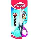Maped Sensoft Fluo School Scissors with Flexible Handles, Kids, 5 Inch, Blunt Tip, Right Handed (69300)
