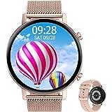 Aliwisdom Smartklocka för män kvinnor barn, 1,3 tum HD rund färgskärm aktivitetsmätare Bluetooth 5.0 Fitness Sport Smartklock