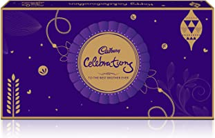 Cadbury Raksha Bandhan Digitally Augmented Assorted Chocolate Gift Box - Sister to Brother, 357 gm (with Rakhi String and Roli Chawal Inside)
