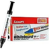 Luxor 1223 Refillable White Board Marker - Black - Box of 10