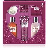 Bryan & Candy New York SUPAWOMAN KIT Sandalwood & Wild Fig Ultimate Bath and Body Diwali Gift Set For Women,Body Wash, Hand &