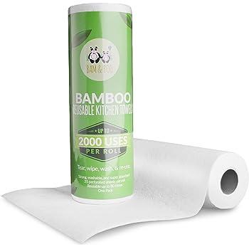 1x Bambus Kuchenrolle Waschbare Wiederverwendbare Bambustucher