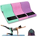 Cocoda Bandas Elasticas Musculacion, 3 Piezas Bandas Elásticas Fitness con 3 Niveles para Piernas/Glúteos/Muslos, Cadera Anch