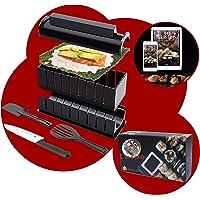 luspo Le Sushi Maker Moules à Sushi Maki Complet + 50 Recettes Offertes  avec Couteau Expert A Sushi  12 Pièces  Vous…
