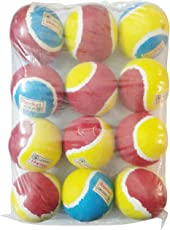 Foricx Cricket Tennis Ball   Light Weight Cricket Ball, (Multi Color, Pack of 12 Pcs)