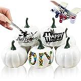 Gxhong Citrouille blanche Halloween citrouille blanche artificielle blanche Simulation citrouille pour décoration d'Halloween