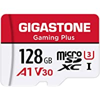 Gigastone 128GB Micro SD Card with SD Adapter + Mini-case, Gaming Plus, Nintendo-Switch Compatible, High Speed 100MB/s…