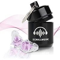SCHALLWERK ® Women+ – Gehörschutz Ohrstöpsel Speziell Für Frauen – Dämpft Lärm & Erhält Tonqualität – Ideal Für Musik, Festivals, Arbeiten, Lernen