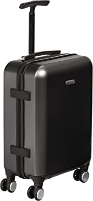 AmazonBasics Metallic Spinner- Carry-on size, 55 x 40 x 20 cm, Black