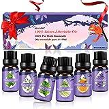 Aceites Esenciales, 100% Puros y Naturales Aromaterapia Aceites Esenciales para Humidificador (Lavanda, Hierba de Limón, Ment