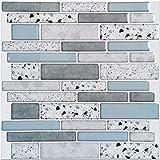 Art3d 10-vel Peel and Stick Tegels Baksteen Keuken Backsplash Zelfklevende Muur Waterdicht Wandpaneel Stenen Ontwerp, 30 x 30