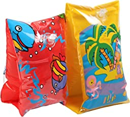 Kamachi Pair of Inflatable Sea Buddy Swim Arm Bands Swimming Aids for 3 - 6 Year Old Kids and Children