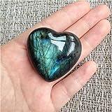 Aitelei, pietra di labradorite curativa, quarzo, pietra di luna, pietra preziosa a forma di cuore, per creare gioielli, pietr