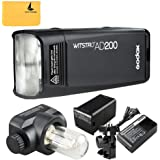 Godox AD200 200Ws 2.4G TTL Flash Strobe 1/8000 HSS Sin Cable Monolight con 2900mAh Litio Batería y Bolsillo Flash Cabeza para