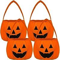 HOWAF Halloween Handtasche Halloween Kürbis Tasche Betteltasche Halloween Trick or Treat Tasche Kinder Storage Bag für…