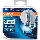 OSRAM COOL BLUE INTENSE H4, Halogen headlamp, 64193CBI-HCB, 12V passenger car, duobox (2 units)