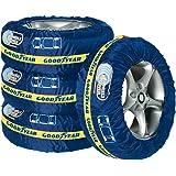 Goodyear 75526 Premium bandentassenset, 4-delig, waterafstotend, wasbaar, zwart-rood, voor schoon transport en veilige opslag
