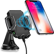 CHOETECH Wireless Charger Auto Schnell Ladegerät Handyhalterung, 7.5W Qi Fast Wireless Charger Kompatibel iPhone XR/XS/XS Max/X/ 8/8 Plus, 10W Fast Charge zu Note 9/S9/S9+/Note 8/S8/S8+,S7 und andere