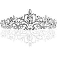 TinkSky® Wedding Tiara, nuziale diadema con cristalli Strass per la cerimonia nuziale, Proms, spettacoli, principessa…
