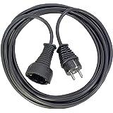 Brennenstuhl cable alargador de corriente de 2 m (extensible eléctrico para interiores) negro