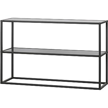 konsolentisch beistelltisch teun sideboard metall mdf holz anstelltisch konsole schwarz. Black Bedroom Furniture Sets. Home Design Ideas
