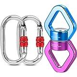 Malayas Connettore Discensore Anello Arrampicata a Rotazione in Lega di Alluminio-Magnesio 30 KN per Amaca Yoga Scalata Arram