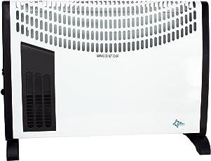 SUNTEC Heizkonvektor Heat Flow 2020 [Für Räume bis 60 m³ (~25 m²), 3 Heizstufen, Regulierbares Thermostat, Turboheizgebläse, Freistehend/Wandmontage, 2000 Watt]