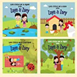 Zayn and Zoey Life Cycle Series - Set of 4 books (Hen, Frog, Tree, Ladybug) - Educational Story Book for Kids - Children's Ea