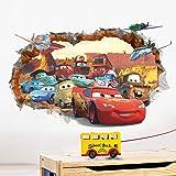ملصقات حائط لغرفة نوم الاطفال من كار جينيرال موبليزيشن ثلاثية الابعاد