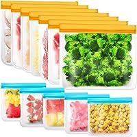IDEATECH 12 Pièces Sacs de Rangement Réutilisables, Sacs de Congélation Réutilisables sans BPA, Sacs à Sandwich…
