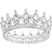 Santfe (2 5,08 cm Altezza in Argento Placcato Oro, con Cristalli, Rosso Rubino-Full Circle, Corona Nuziale Jewelry-Tiara…