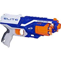 Nerf Disruptor Elite Blaster -- 6-Dart Rotating Drum, Slam Fire, Includes 6 Official Elite Darts -- For Kids, Teens, Adults