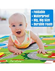 Owme Baby Mat Carpet Baby Double Sided Water Proof Crawl Play Mat Kids Infant Crawling Play Mat Carpet Baby Gym Water Resistant Baby Play & Crawl Mat(Large Size - (6 Feet X 6.5 Feet))