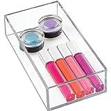 iDesign Boîte de Rangement pour Tiroir de Salle de Bain ou Cuisine, Petit Organisateur Tiroir en Plastique sans BPA, Rangemen