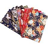 PRETYZOOM 10 Pcs Coton Tissu Feuilles Quilting Tissus à Coudre Style Japonais Fleur Imprimé Tissu Patchwork pour Bricolage Ar