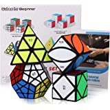 Roxenda Speed Cube Bundle, Magic Cube Set of Megaminx Pyramid Skew Ivy Speed Puzzle Cube with Gift Box, Secret Tutorial for Speed Cubes