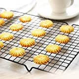 Royals Metal Nonstick Wire Cookie Cooling Rack, 1pc, Black