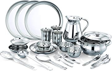Expresso - 25 Pieces High Grade Quality Stainless Steel Dishwasher Safe Serving Dinner Set