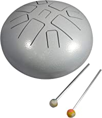 "Happy Drum Pan Drum, Steel Tongue Drum, Hang Drum Tank Drum 9"" Inch Finger Steel Drum Pentatonic Scale with Rubber Musical Mallet and Travel Bag Perfect for Meditation Yoga Zen Sound Healing"