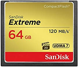 SanDisk Extreme 64GB CompactFlash Memory Card UDMA 7 Speed Up To 120MB/s