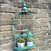 WITREE-Z Wand Ornamente_American Iron Bird Bird Cage home Wand hängend Restaurant Bar kreative Dekoration, Weiß