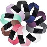 Mornex Cinturini Compatible Fitbit Charge 2 Sport Originate, TPU Accessori Braccialetto, Argento/Oro Rosa Fibbia, Grande Piccolo