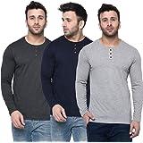 London Hills Men's Slim Fit T-Shirt (Pack of 3)