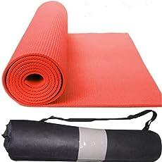 QuickShel Yoga Mat, 6mm (Red)